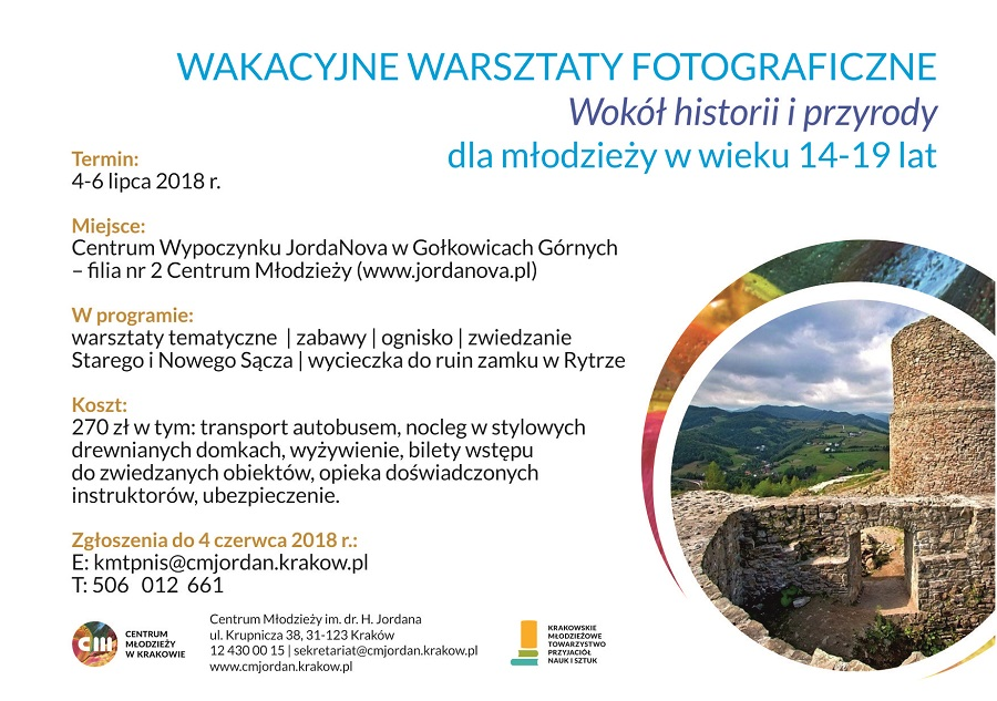 Warsztaty foto, Gołkowice, e-ulotka